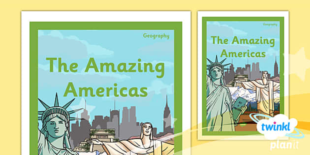PlanIt - Geography Year 6 - The Amazing Americas Unit Book Cover - planit, book cover, year 6, geography, the amazing americas