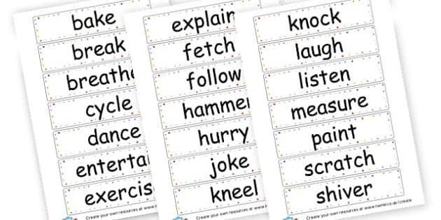 Verbs Cards