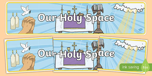 Our Holy Space Display Banner-Irish