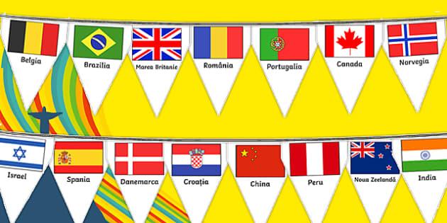 Drapelele țărilor participante la Jocurile Olimpice de la Rio 2016, Stegulețe