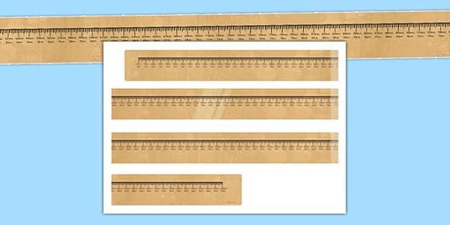 Metre Ruler Display Cut Out - metre ruler, display, cut out, measure, metre, ruler