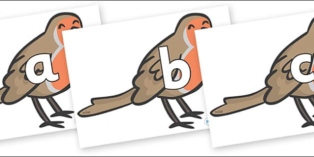 Phoneme Set on Robins - Phoneme set, phonemes, phoneme, Letters and Sounds, DfES, display, Phase 1, Phase 2, Phase 3, Phase 5, Foundation, Literacy