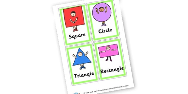 Shapes Cards - 2D Shapes, Literacy, 2D Shape Primary Resources, spaces, measures