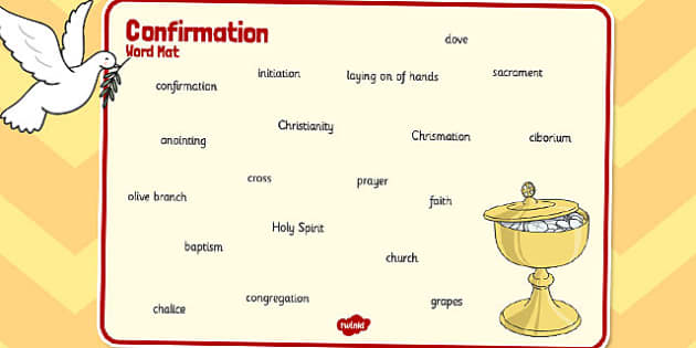 Confirmation Word Mat - confirmation, word mat, word, mat, words