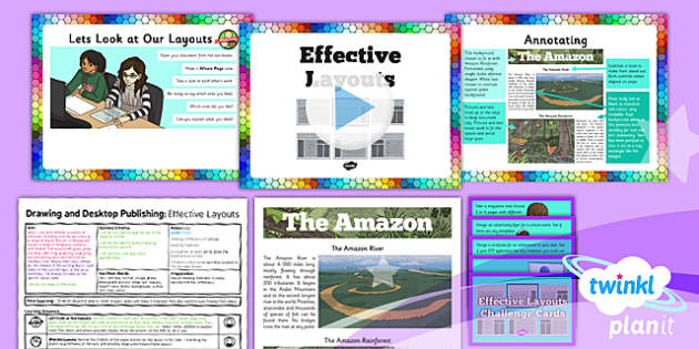 PlanIt - Computing Year 3 - Drawing and Desktop Publishing Lesson 6: Effective Layouts Lesson Pack - Posters, Desktop Publishing, Drawing