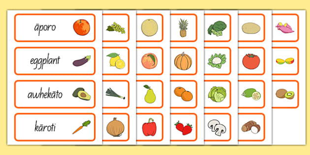 New Zealand Fruit and Vegetable Shop Role Play Word Cards Te Reo Māori - nz, new zealand, fruit and vegetable shop, role play, word cards