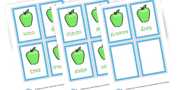 Spanish apple numbers - Spanish, Numeracy,  Primary Resources, MFL, Spanish, Spain, espag