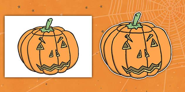 Editable Halloween Jack 'o' Lantern Pumpkin (A4) - Editable Halloween Kack o Lantern Pumpkin, A4, display, poster, Halloween, pumpkin, witch, bat, scary, black cat, mummy, grave stone, cauldron, broomstick, haunted house, potion, Hallowe'en