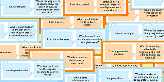 Vocabulary, Grammar and Punctuation Class Loop Game KS2 - loop game
