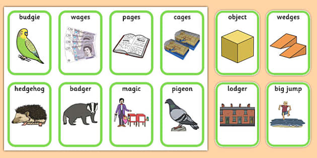 Medial 'j' Playing Cards -speech sounds, phonology, articulation, speech therapy, dyspraxia