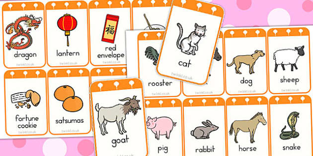 Chinese New Year Flashcards - australia, chinese, new year, cards