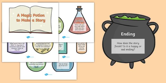 Magic Potion Ingredients To Make A Story - magic, fantasy, story