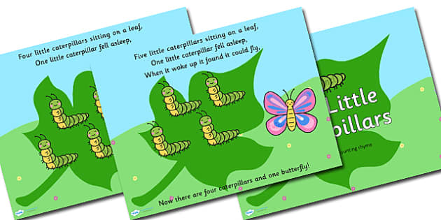 Five Little Caterpillars Minibeast Counting PowerPoint - counting, counting powerpoint, powerpoint, minibeast powerpoint, minibeast counting powerpoint