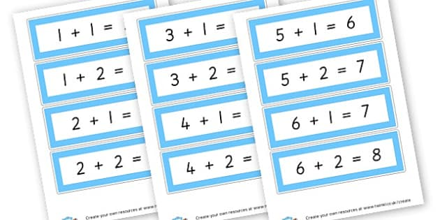 adding 1 and 2 to number 1-6 - Calculation Primary Resources, maths, add, subtract, calculation