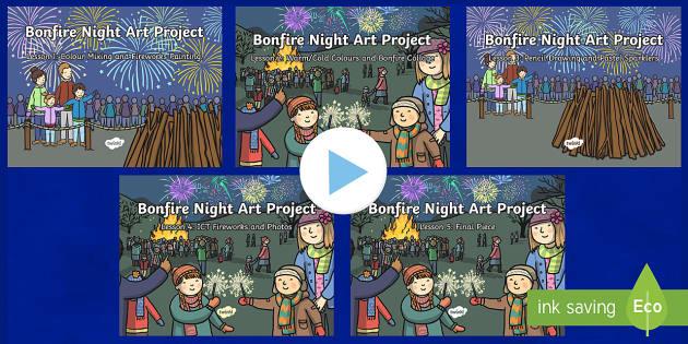 KS1 Bonfire Night Art Project Lesson Pack
