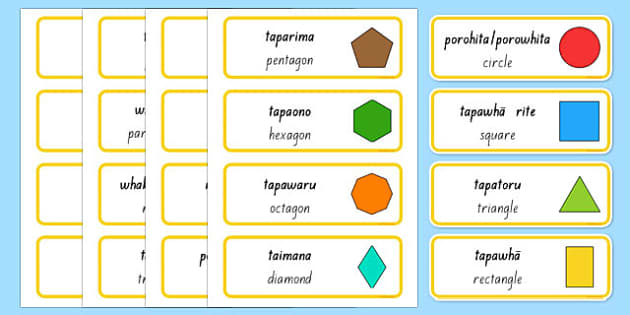 2D Shape Word Cards