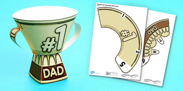 3D Fathers Day Trophy Activity - 3d, fathers day, trophy, model