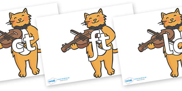 Final Letter Blends on Cat and Fiddle - Final Letters, final letter, letter blend, letter blends, consonant, consonants, digraph, trigraph, literacy, alphabet, letters, foundation stage literacy