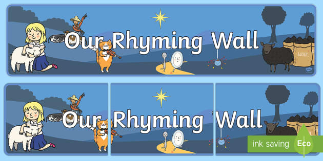 Our Rhyming Wall Display Banner - display banner, rhyming, wall