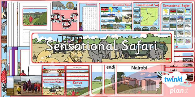 PlanIt - Geography Year 2 - Sensational Safari Unit Additional Resources - planit, geography, safari, year 2