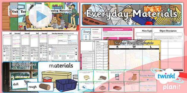 PlanIt - Science Year 1 - Everyday Materials Unit Pack - unit, pack, planit