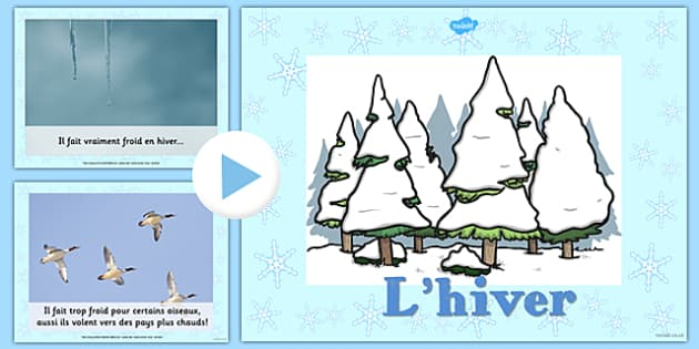 L'hiver Information PowerPoint French - french, winter, information, powerpoint