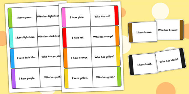 Colour Loop Cards - colour, loop cards, loop, cards, activity