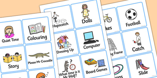 Playtime Cards - playtime, cards, play, time, activities, games, 4 per A4, playing, fun, games, game cards, activites, cards for playtime, card activities