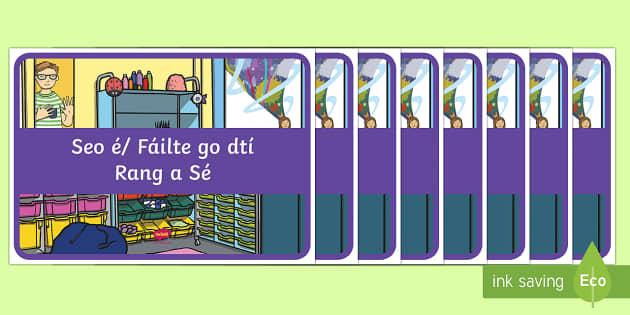 Display Signs and Labels Gaeilge - Gaeilge KS1 Display, classroom resources, display, classroom sign, Irish