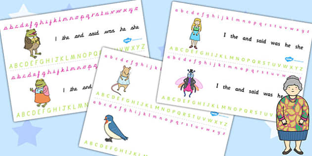 Thumbelina Alphabet Strips - a-z, strip, writing aid, visual aid