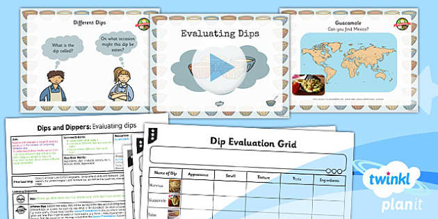 PlanIt - D&T KS1  - Dips and Dippers Home Learning Tasks