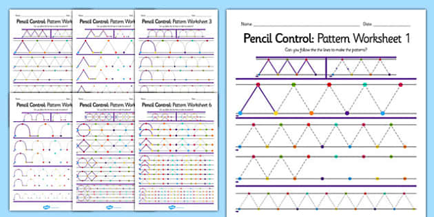 Pencil Control Pattern Workbook - pencil control, motor skills
