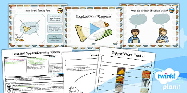 PlanIt D&T KS1 Dips and Dippers Lesson 2 Exploring Dippers Pack