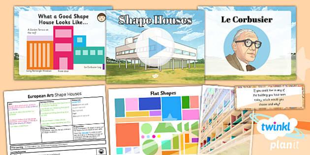 PlanIt - Art LKS2 - European Art Lesson 3: Shape Houses Lesson Pack