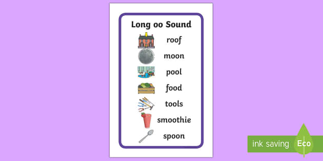 IKEA Tolsby Long 'oo' Sound Word Prompt Frame - IKEA Tolsby Prompt Frame, long oo sound, oo digraph