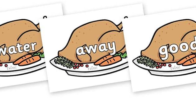 Next 200 Common Words on Christmas Turkeys - Next 200 Common Words on  - DfES Letters and Sounds, Letters and Sounds, Letters and sounds words, Common words, 200 common words