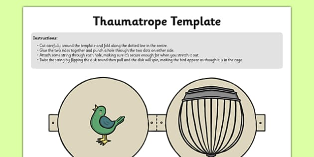 Bird in Cage Thaumotrope - history, toys, history of toys, magic, illusion, trick of the eye