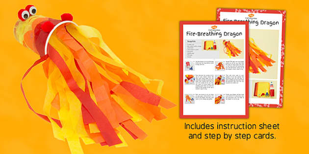 Fire-Breathing Dragon Craft Instructions - dragon, fire, craft