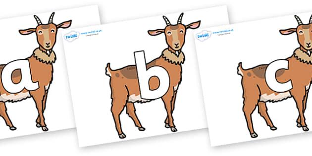 Phoneme Set on Medium Billy Goats - Phoneme set, phonemes, phoneme, Letters and Sounds, DfES, display, Phase 1, Phase 2, Phase 3, Phase 5, Foundation, Literacy