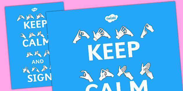 Large Keep Calm and Sign Display Posters - display, posters