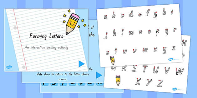Letter Formation Sheet and PowerPoint Pack QLD - australia, letter formation
