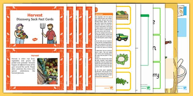 Harvest Discovery Sack - EYFS, Early Years, KS1, harvest festival, autumn, fruit, vegetables, scarecrow