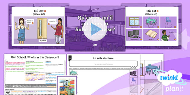 PlanIt French Year 3 Our School Lesson Pack