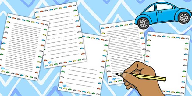 Car Page Borders (Portrait) - car, borders, page border, portrait, cars