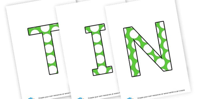 TIN - display lettering - Display Lettering Primary Resources, cut out, letters, display