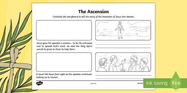 Ni T 60 The Ascension Storyboard Activity Sheet on Jonah And The Big Fish Story Sequencing