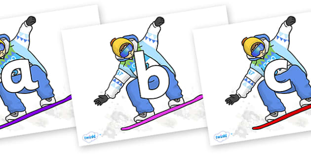 Phoneme Set on Snowboarding - Phoneme set, phonemes, phoneme, Letters and Sounds, DfES, display, Phase 1, Phase 2, Phase 3, Phase 5, Foundation, Literacy