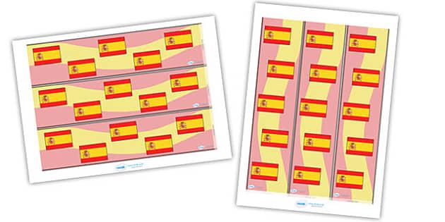 Spanish Display Borders - German, Germany, display border, classroom border, border, MFL, Modern Foreign Languages, foundation, languages, display, espanol