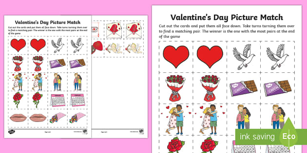 Canada Valentines Day Matching Cards Canada Valentines Day – Valentines Cards Canada