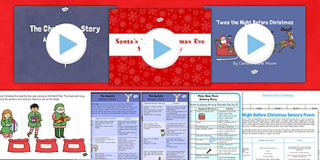 Christmas Sensory Story Resource Pack - christmas, sensory, story, resource, pack